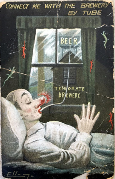 Temperance postcard. Connect to brewery