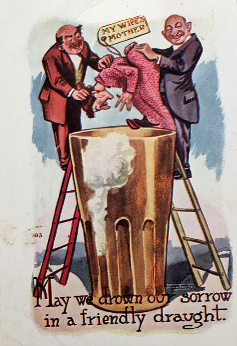 Temperance postcards. Mother in law