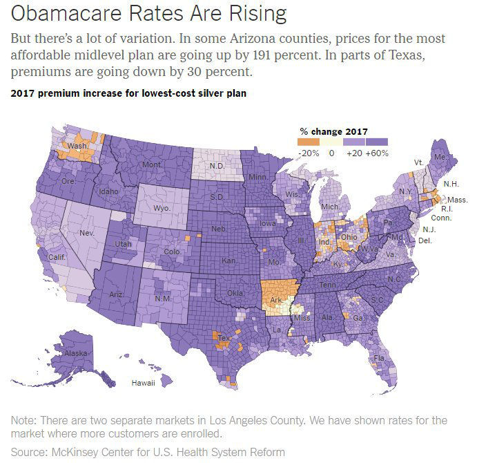 obamacare rate increases