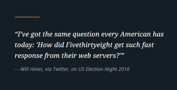 FiveThirtyEight speed during 2016 elections, powered by enterprise WordPress at WordPress VIP