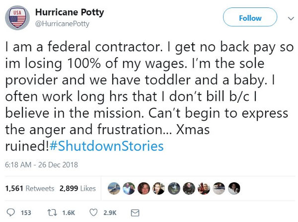 Shutdown Stories. Government contractor.