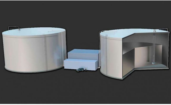 Silicon tanks for renewable energy storage