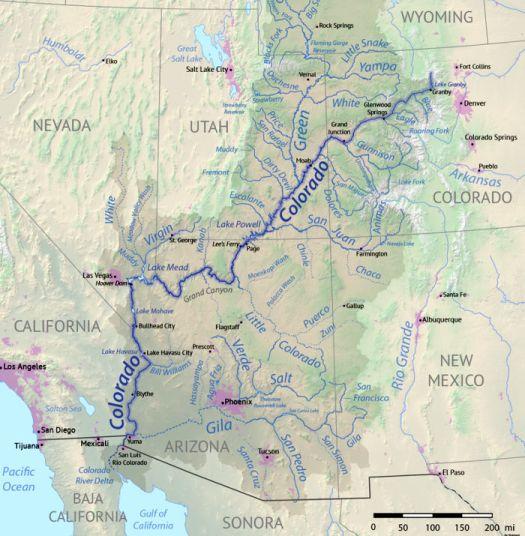 Colorado River basin map. Shannon1 [CC BY-SA 4.0 (https://creativecommons.org/licenses/by-sa/4.0)]
