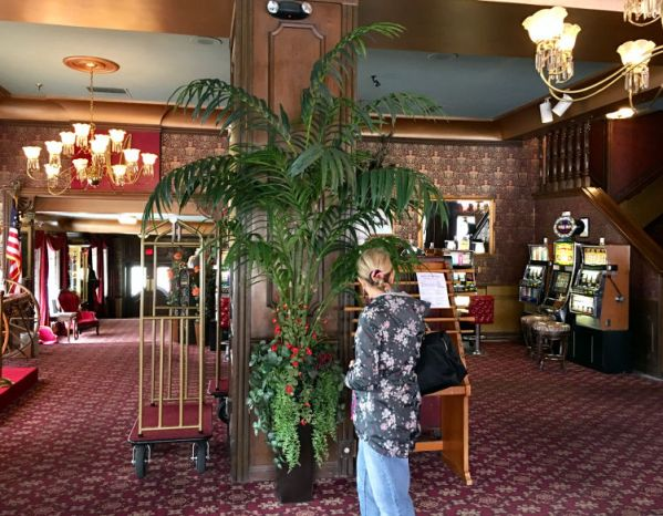 Tonopah. Mizpah Hotel inside.