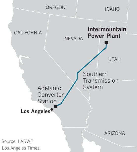 Intermountain Power Plant transmission line to Los Angeles.