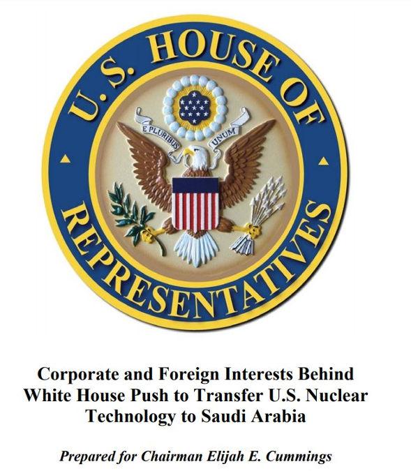 Elijah Cummings. Transfer of nuclear technology to Saudis