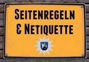 Seitenregeln und Netiquette