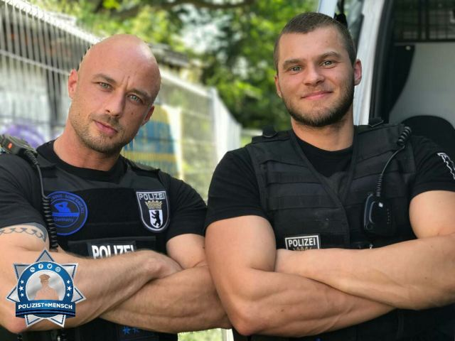"""""""To protect and to serve, BCPD, Patrick und Daniel"""""""