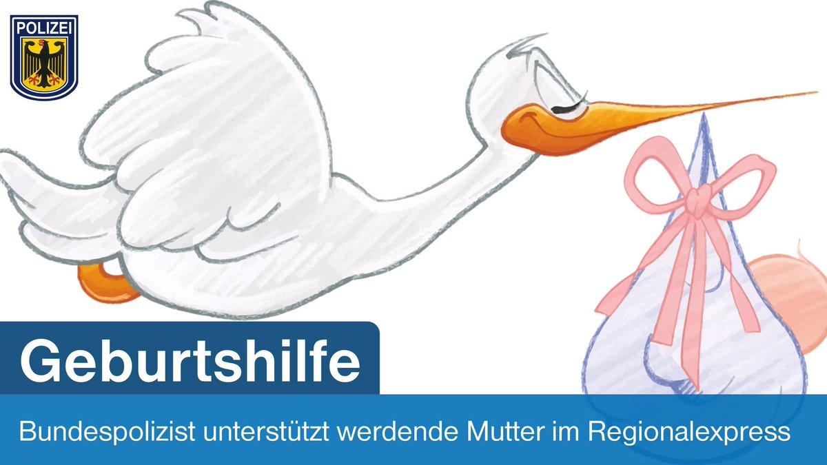 Geburtsort Regionalexpress: Bundespolizist leistet Geburtshilfe im Zug
