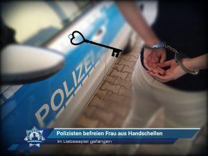 Im Liebesspiel gefangen: Polizisten befreien Frau aus Handschellen