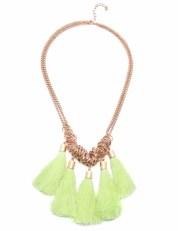 Yellow Tassel Necklace-Habbana