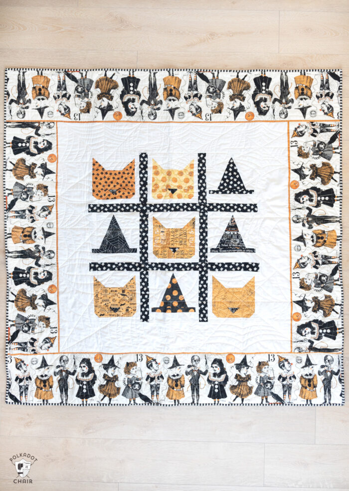Halloween Quilt : halloween, quilt, Frightfully, Halloween, Quilt, Patterns, Polka, Chair