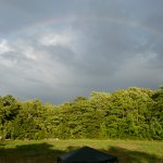 Rainbow over homestead Polka Dot Hen Produce