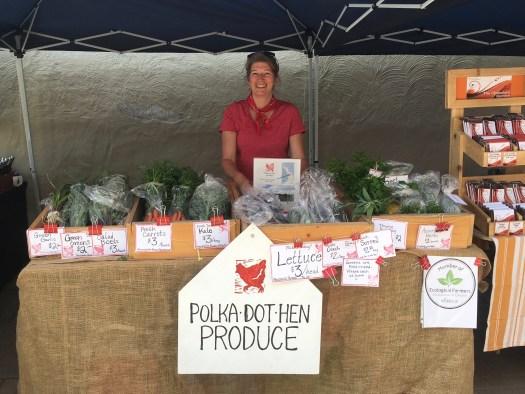 Erin Gundy Polka Dot Hen Produce Wiarton Farmers' Market