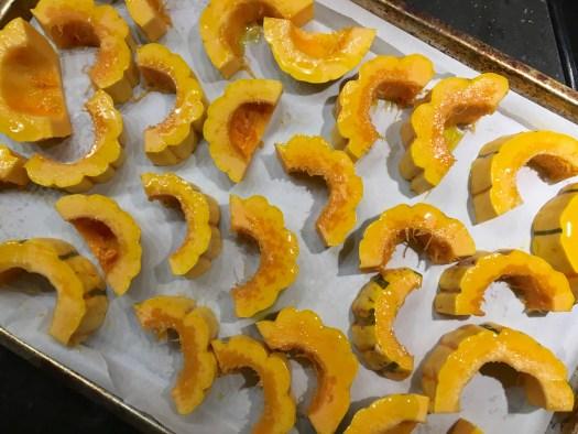 Sliced delicata squash Polka Dot Hen Produce