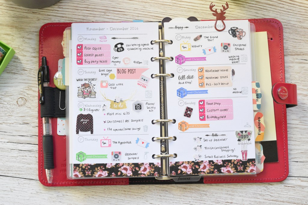 planner society weekly layout