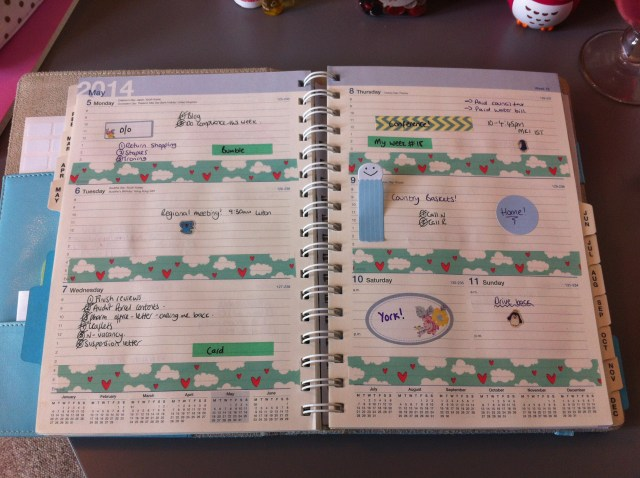 Apologies for the bad light. Still struggle to find somewhere decent to take a picture of my planner...