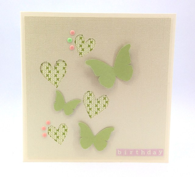 butterfly birthday pink and green