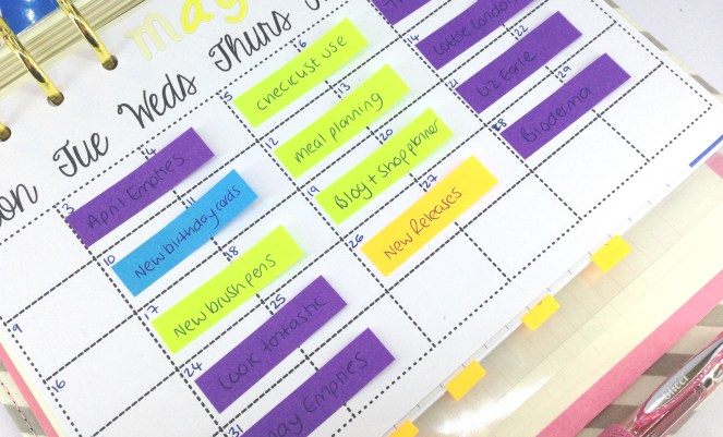 post it notes blog planner