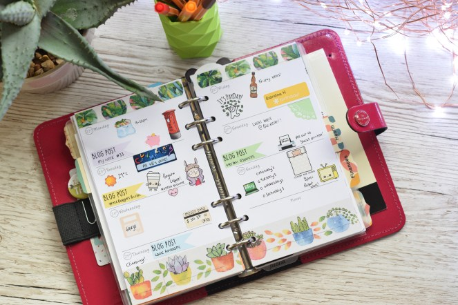 my week 34 filofax