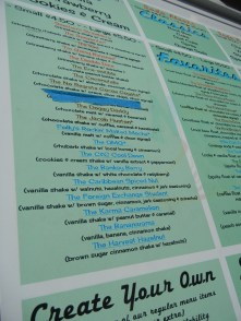 Moovers and Shakers menu