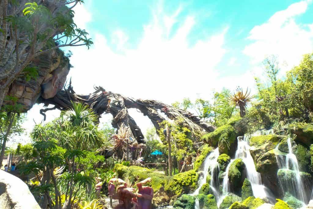 Waterfalls at Pandora Disney