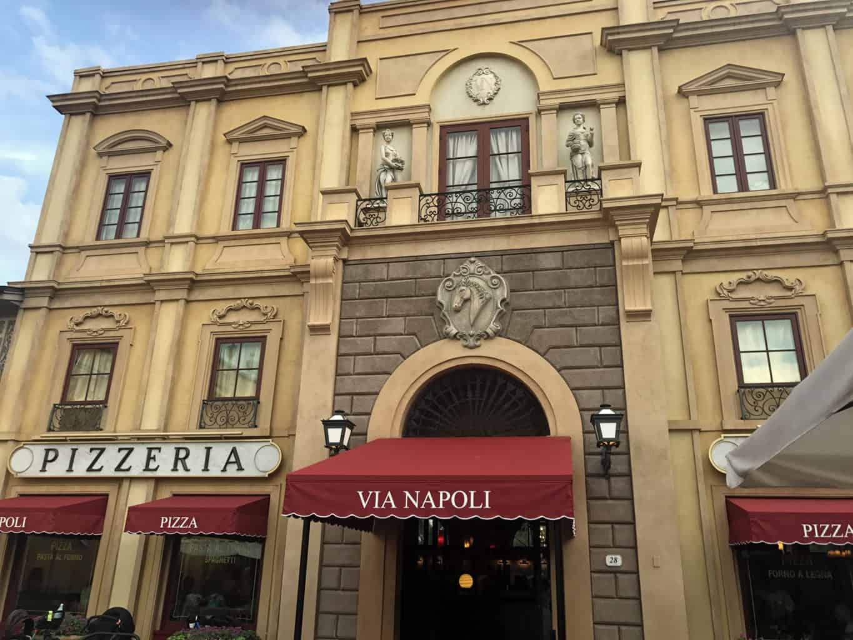 Via Napoli Ristorante e Pizzeria Review Walt Disney World Epcot