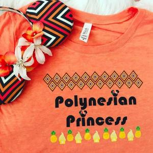 Polynesian Princess T shirt Pineapple Princess Walt Disney World