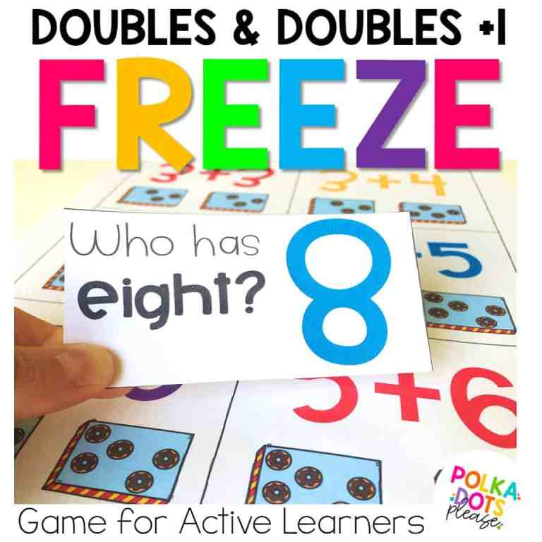 doubles math movement game