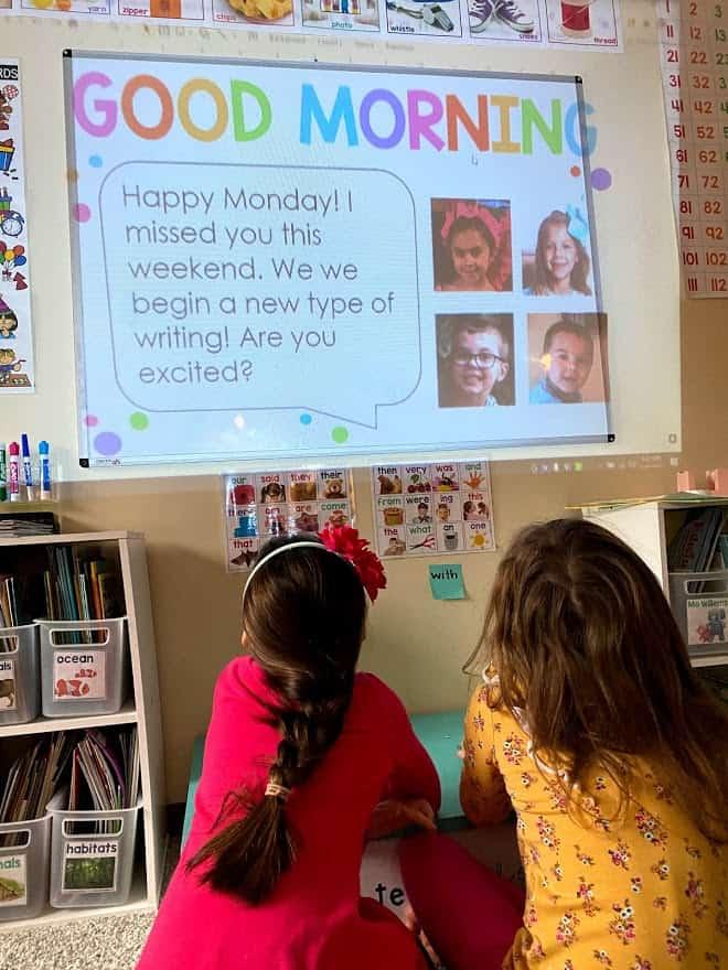 Classroom Morning Meeting Slide