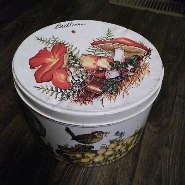 Cute Vintage Cookie Tin
