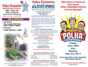 2017 Polka Fireworks June 30 through July 1, 2017 in Champion, PA