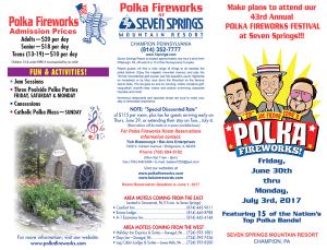 2017 Polka Fireworks Festival Brochure Cover