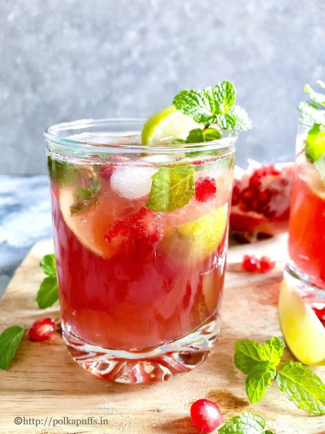 Virgin Pomegranate Mojito | Pomegrante Mojito