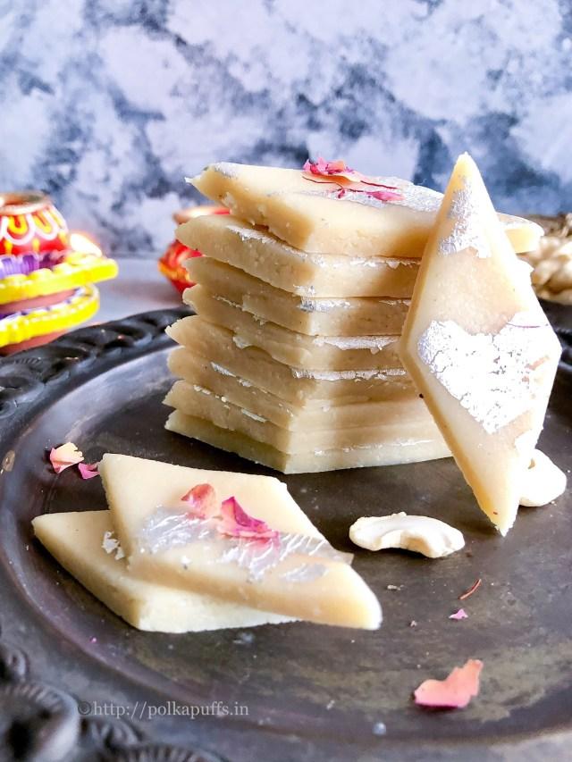 Kaju Katli | Cashew Fudge