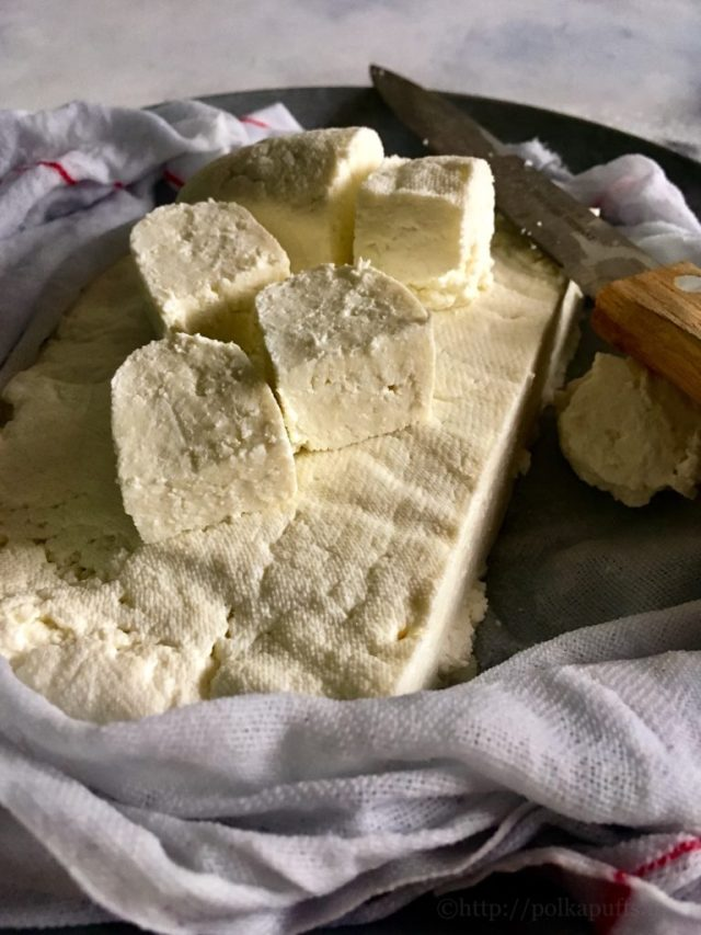 home made malai paneer   Indian cottage cheese recipe