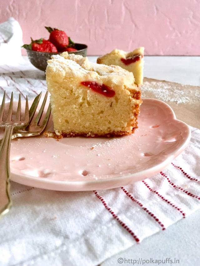 Strawberry Snack Cake