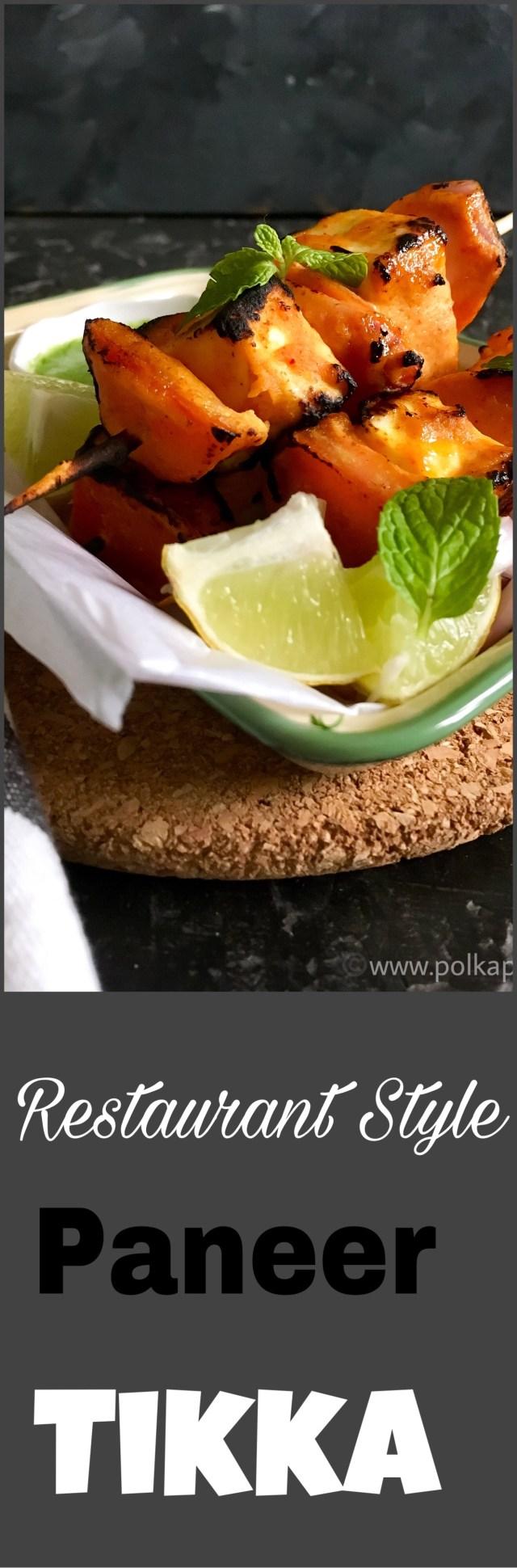 Restaurant Style Paneer Tikka | Stove Top Method