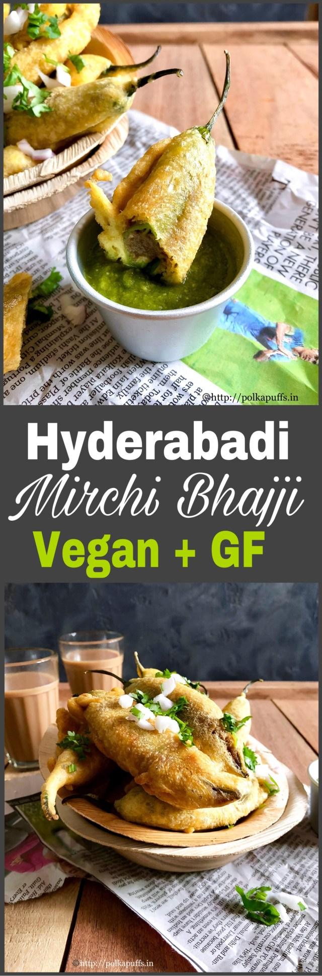 Hyderabadi Mirchi Bhajji Vegan & GF   How to make Hyderabadi Mirchi Wada