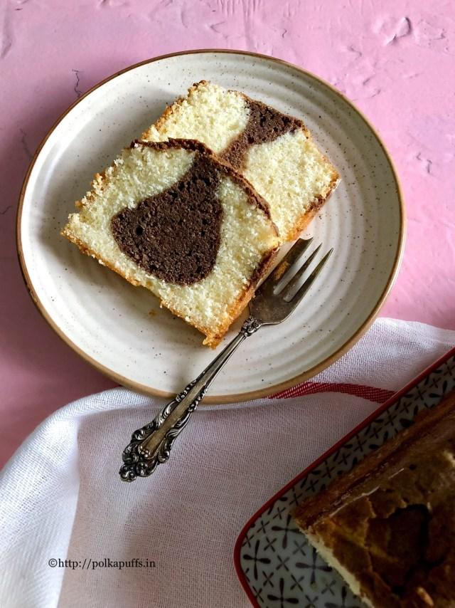 Egg free Marble Cake | How to make tea time Marble Cake