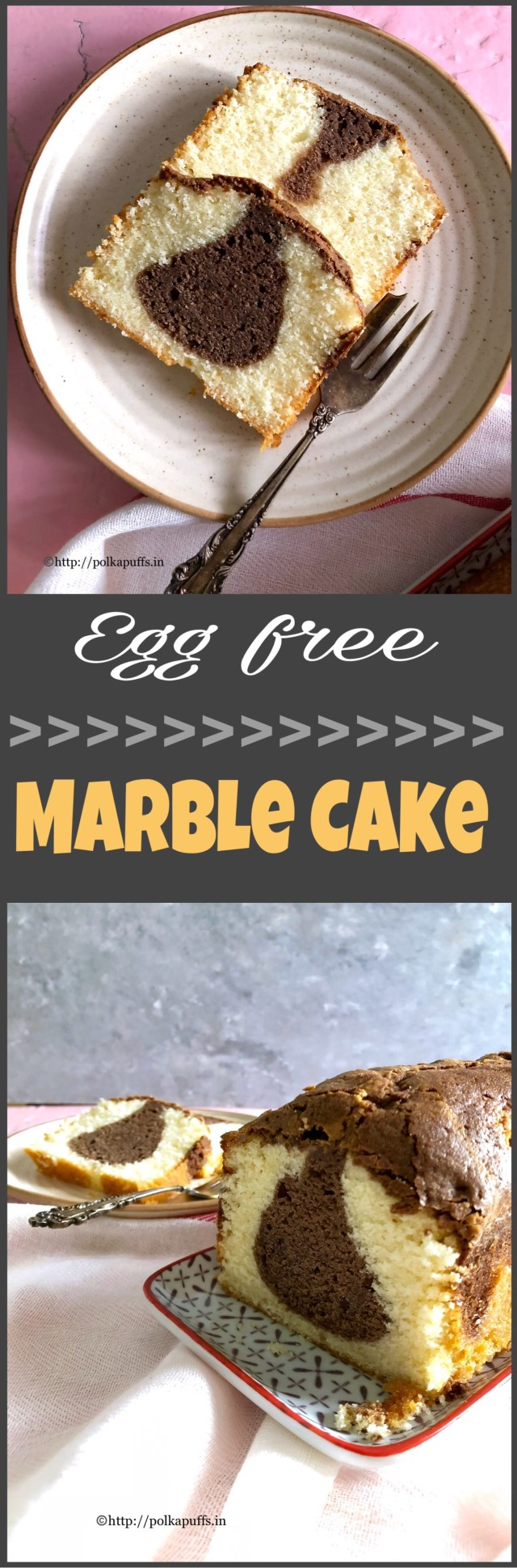 Egg free Marble Cake | How to make tea time Marble Cake