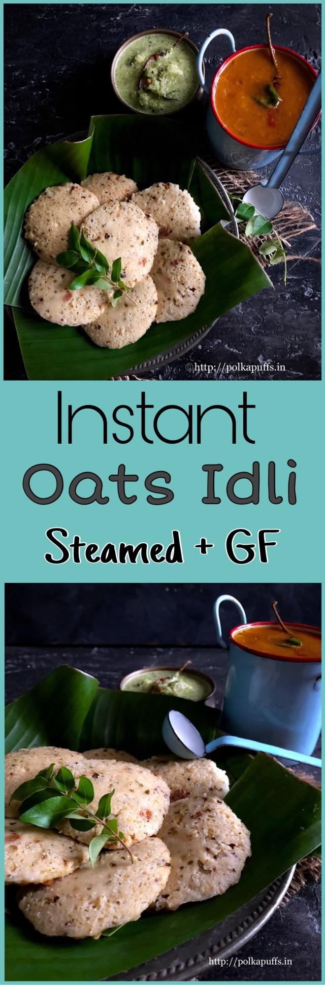 Instant Oats Idli | Gluten free Oats Idli recipe