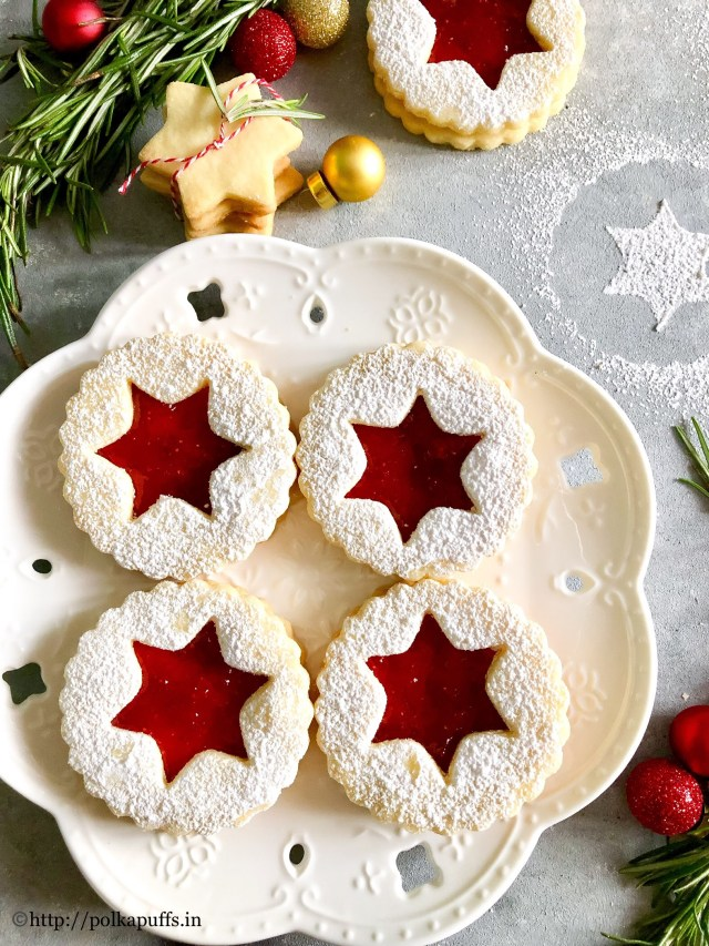 The Best Traditional Linzer Cookies | Egg free Linzer Cookies