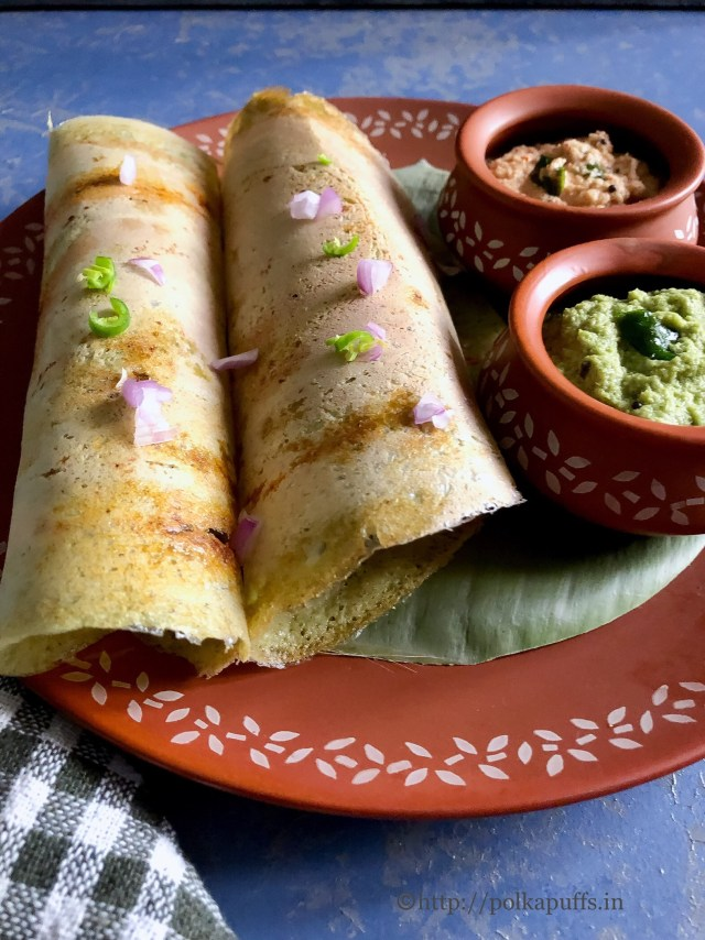 Pesarattu | Vegan and Gluten free Lentil Crepes