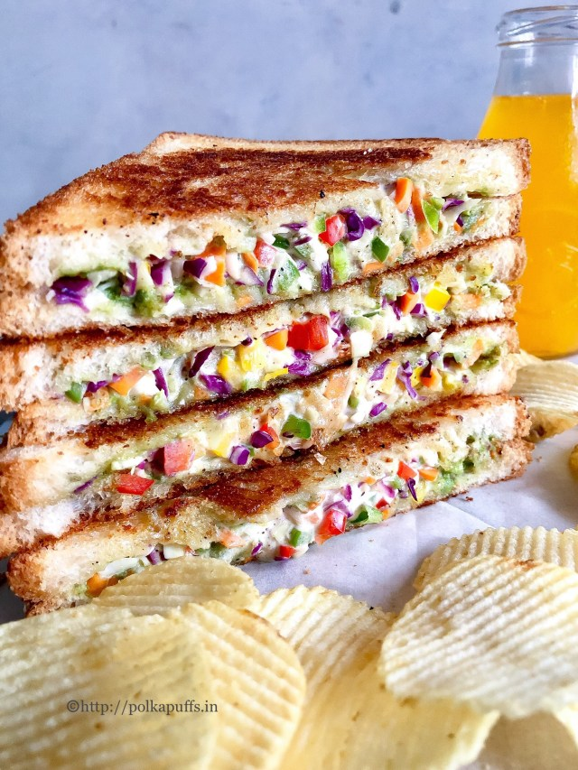 Vegetable Mayonnaise Sandwich | Vegan Mayonnaise Sandwich