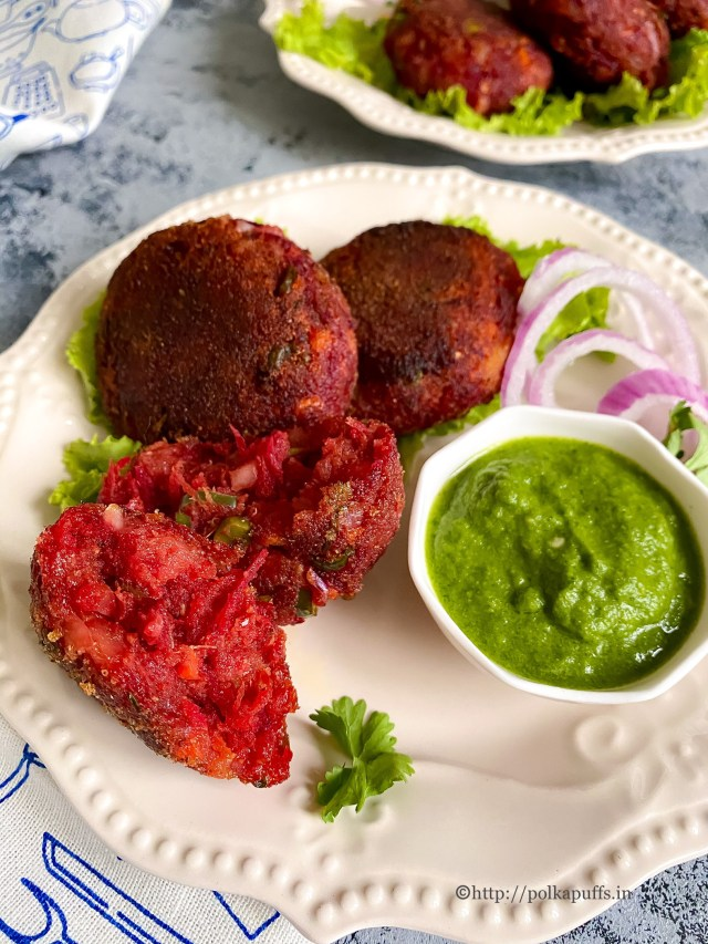 Beetroot Cutlets | Vegan Beetroot Patties