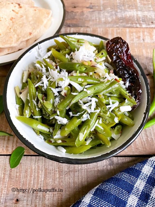 Goan Style French Beans Foogath | Beans Foogath