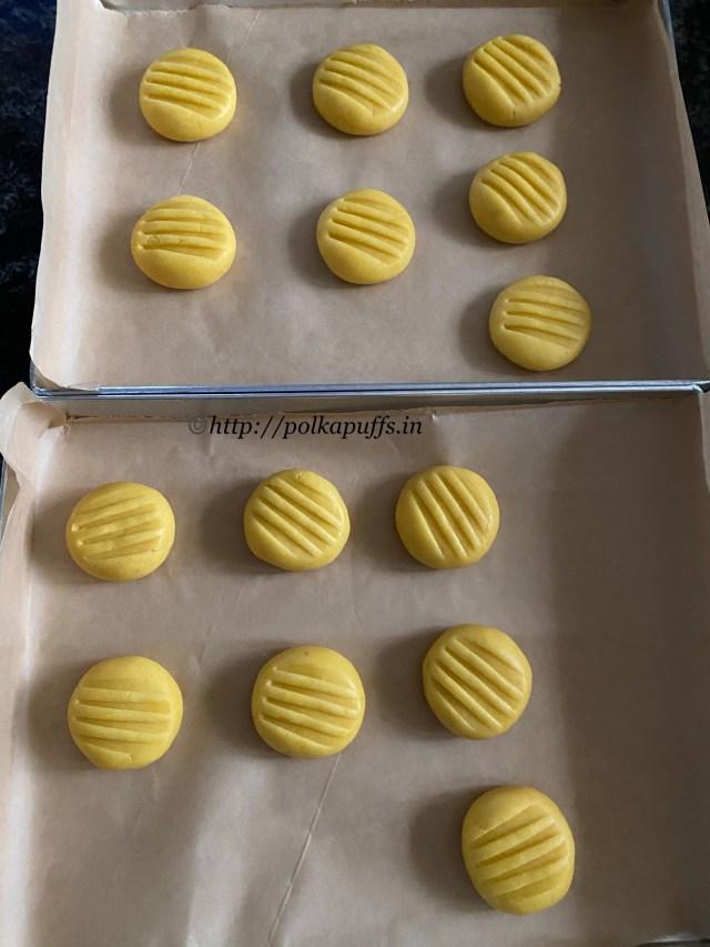 Eggless Custard Cookies | Custard Cookies Recipe
