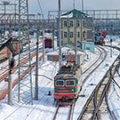 Train Transporting Timber