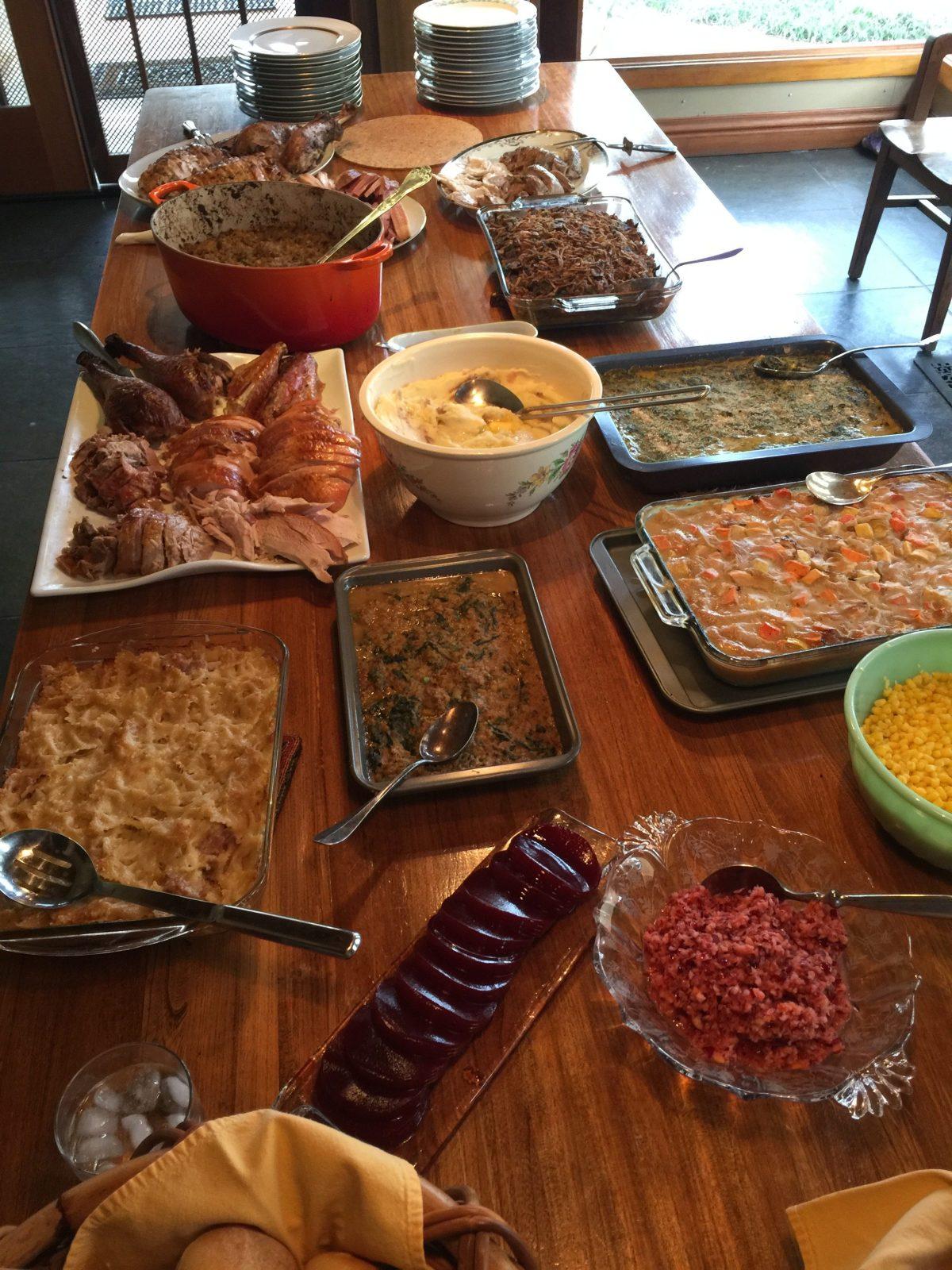Thanksgiving and Spinach Madeleine